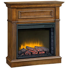 Pleasant Hearth Fulton Compact Fireplace  - Heritage Finish