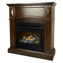 "Pleasant Hearth VFF-PH20D-C 20,000 BTU 36"" Compact Cherry Vent-Free Fireplace System"