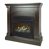 "Pleasant Hearth VFF-PHCPD-2T 20,000 BTU 36"" Compact Tobacco Vent-Free Fireplace System"