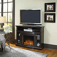 Pleasant Hearth Elliott Media Fireplace, Merlot