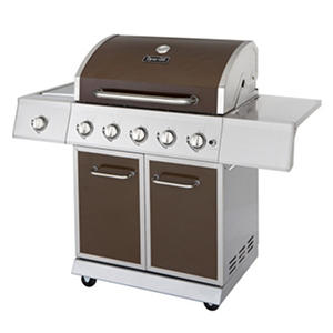 Dyna-Glo Bronze Metallic 62,000 BTU 5 Burner LP Gas Grill with Side Burner
