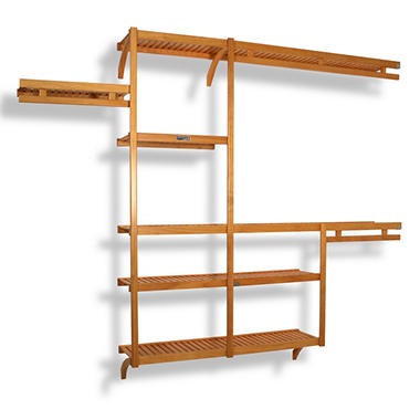 Solid Wood Reach-In Closet Organizer - Honey Maple