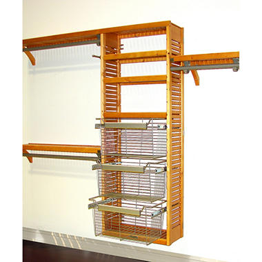 Premier Honey Maple Packaged Closet System