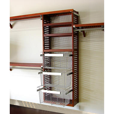 Premier Red Mahogany Packaged Closet