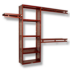 "12"" Depth Simplicity Closet System - Red Mahogany"