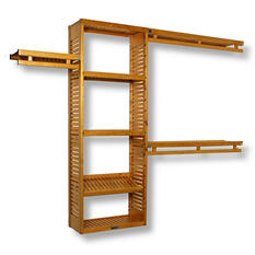 "12"" Depth Simplicity Closet System - Honey Maple (Limited Time Offer - DIY Event)"