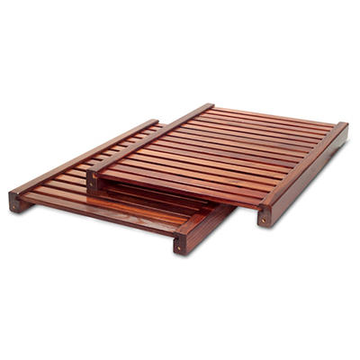 Deluxe Adjustable Tower Shelf - Mahogany - 2 pk.