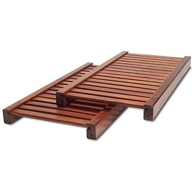 Adjustable Shelf Kit Red Mahogany Finish