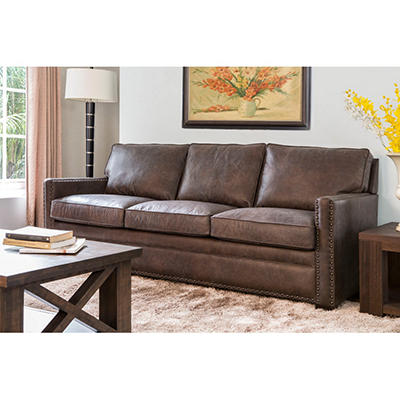 Bruno Italian Leather Sofa