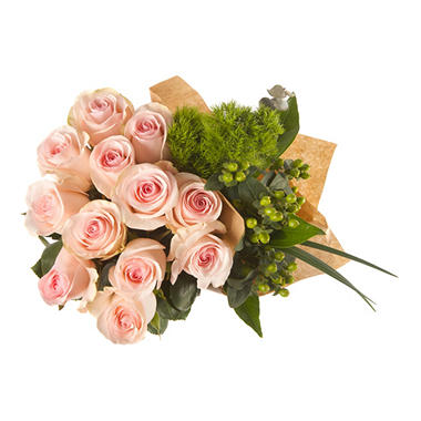 Designer's Pick - Pink Roses and Greens (228 stems)
