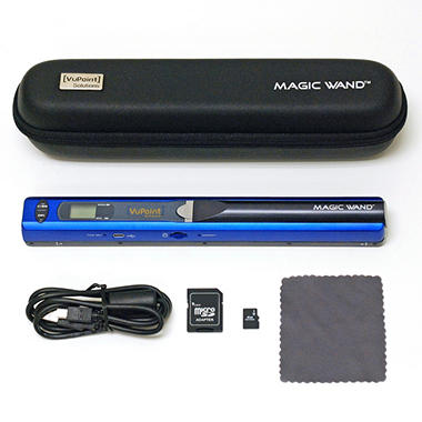 D - VuPoint Magic Wand Portable Digital Scanner - Blue