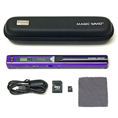D - VuPoint Magic Wand Portable Digital Scanner - Purple