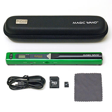 D - VuPoint Magic Wand Portable Digital Scanner - Green