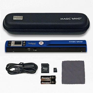 VuPoint Magic Wand Portable Scanner w/Case and 4GB MicroSD - Various Colors