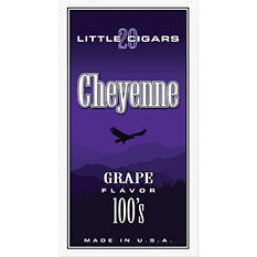 Cheyenne Little Cigars Grape 100s - 200 ct.