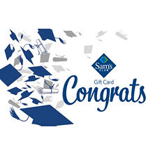 Sam's Club Congratulations Graduation Gift Card