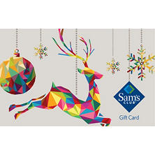 Sam's Club Holiday Reindeer Gift Card