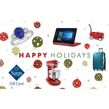 Sam's Club Happy Holiday Gift Card