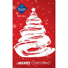 Sam's Club Red Merry Christmas Gift Card