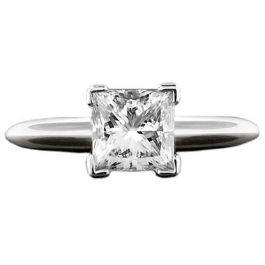 2.0 ct. Princess Diamond Solitaire Ring (I, SI2)