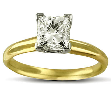 1.50 ct. Princess Diamond Solitaire Ring (I, I1)