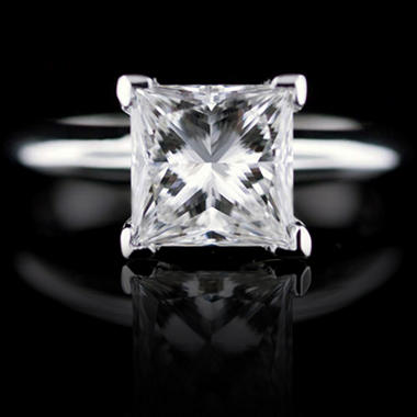 2.14 ct. Princess-Cut Diamond Ring (F, VVS2)