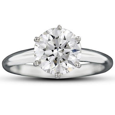 2.06 ct. Ideal Round-Cut Diamond Ring (G, VS2)