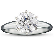 2.03 ct. Brilliant Round-Cut Diamond Ring (E, SI1)