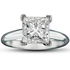 2.02 ct. Princess-Cut Diamond Ring (E, VS1)
