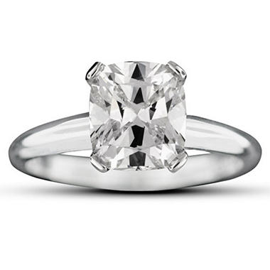 2.02 ct. Cushion-Cut Diamond Ring (G, VS1)