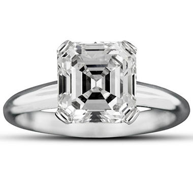 2.10 ct. Emerald-Cut Diamond Ring (G, VS2)