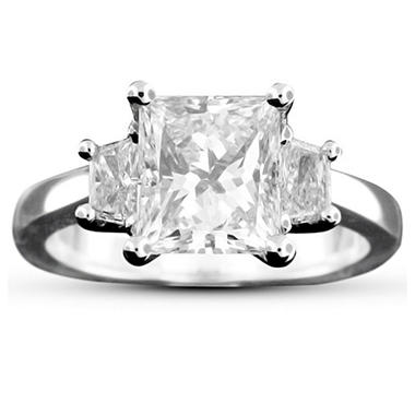 2.43 ct. t.w. Princess-Cut Diamond Ring (D, VS2)