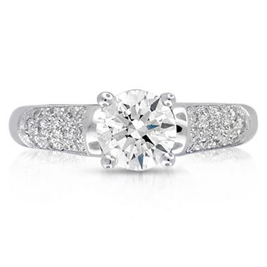 1.33 ct. t.w. Premier Diamond Collection Round & Pave' Diamond Ring (F-G, VS2-SI1)