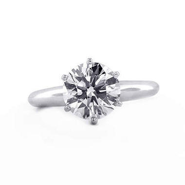 2.01 ct. Round Diamond Solitaire Ring (E, SI1)