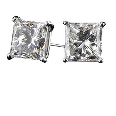 2.01 ct. t.w. Princess Dia. Earrings (F-G,IF-VVS2)