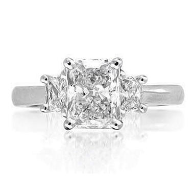 2.10 ct. t.w. Radiant-Cut Diamond Ring (E, SI1)