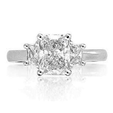 2.10 ct. t.w. Radiant-Cut Diamond Ring (E, SI1)