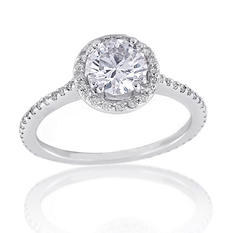 1.32 ct. t.w. Premier Diamond Collection Round & Pave Diamond Ring (F, SI1)