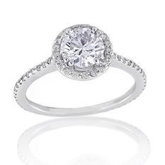 1.32 ct. t.w. Premier Diamond Collection Round & Pave Diamond Ring (F, SI1)