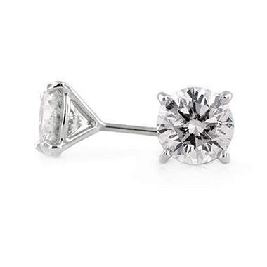 3.04 ct. t.w. Diamond Stud Earrings in 18k White Gold (H-I, SI1-SI2)