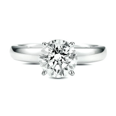 1.59 ct. Round Diamond Solitaire Ring (G, SI1)