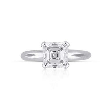 2.07 ct. Asscher Cut Diamond Solitaire Ring (I, SI1)