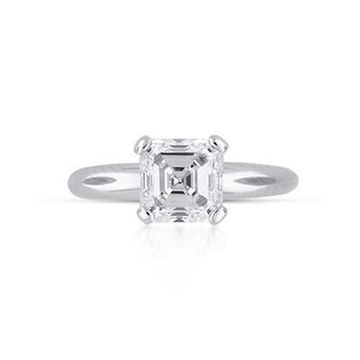 2.07 ct. Asscher Cut Diamond Solitaire Ring (I, SI1)