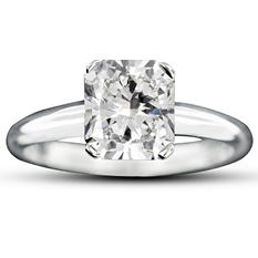 2.03 ct. Radiant Cut Diamond Solitaire Ring (H-I, VS1-VS2)