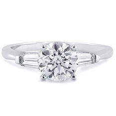 1.23 ct. t.w. Premier Diamond Collection Round and Baguette Diamond Ring (G, SI1)