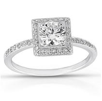0.68 ct. t.w. Premier Diamond Collection Round & Pave Diamond Ring (D, SI2)
