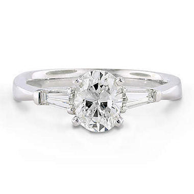 1.21 ct. t.w. Oval/Baguette Diamond Ring (D, SI2)