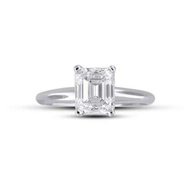 1.93 ct. Emerald-Cut Diamond Solitaire Ring (F, VS2)