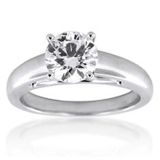 2.01 ct. Round Diamond Solitaire Ring (H, SI1)