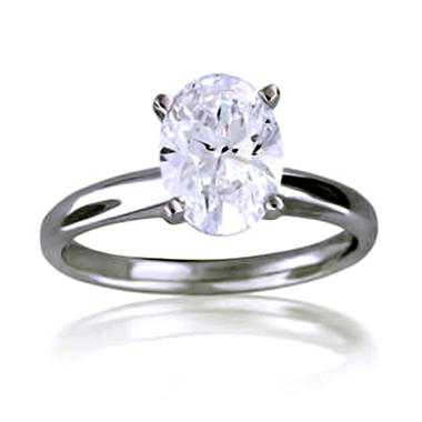 2.01 ct. Oval Diamond Solitaire Ring (D, SI1)